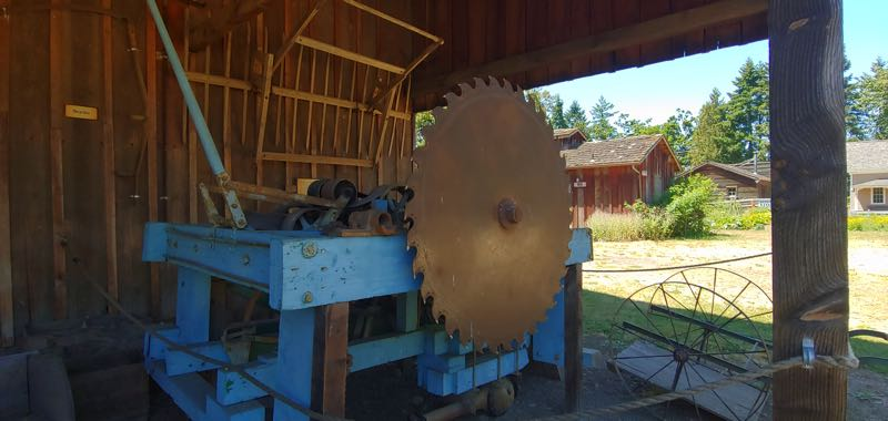 COURTESY PHOTO: PHILIP FOSTER FARM - A sawmill at Philip Foster Farm will eventually be used to mill wood at the National Historic Site.