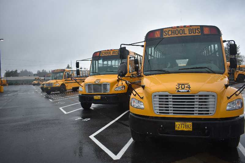 PMG PHOTO: ANGEL ROSAS  - Reynolds School District is searching for 14 bus drivers to relieve a shortage in the districts fleet.