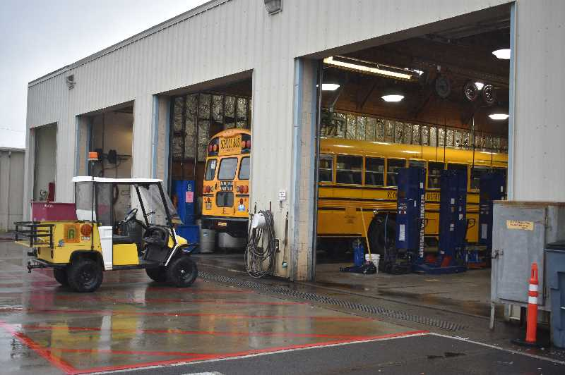 PMG PHOTO: ANGEL ROSAS  - Centennial School District has had to use district mechanics and other transportation staff members to cover bus routes.