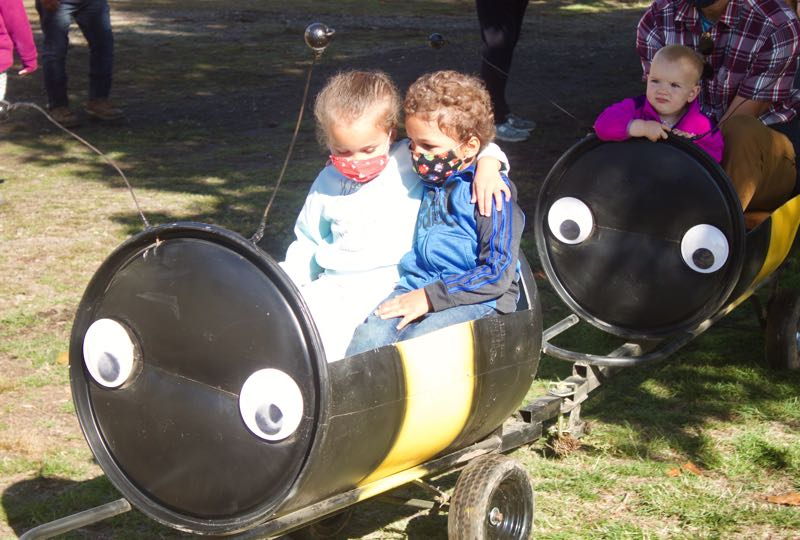 PMG PHOTO: CHRISTOPHER KEIZUR - A pollinator-themed cart ride is one of the centerpieces for kids at Liepold Farms Fall Festival.