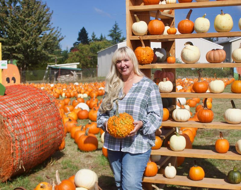 PMG PHOTO: CHRISTOPHER KEIZUR - Michelle Liepold Krummenacker said her favorite part of Fall Festival is seeing how excited the kids get exploring a farm.