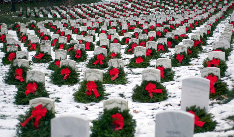 COURTESY PHOTO: WREATHS ACROSS AMERICA - The Gresham VFW Auxiliary is selling wreaths to honor fallen veterans.