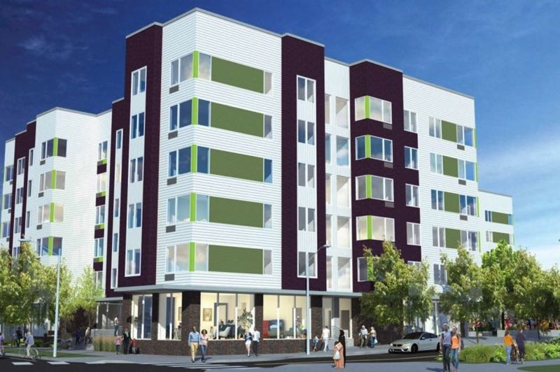COURTESY: METRO - Fuller Road Station Family Housing, a 100-unit complex planned near a MAX Green Line stop in Clackamas County, is set to open next year.