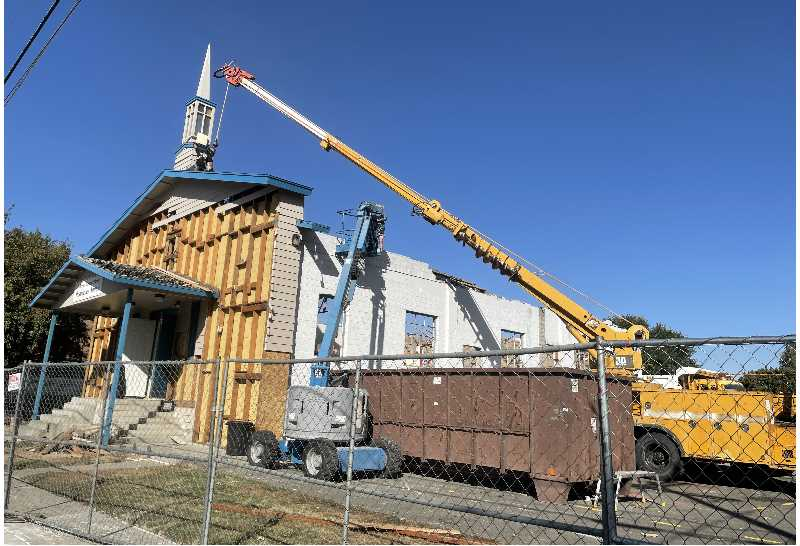 PMG PHOTO: HOLLY SCHOLZ - H&H Construction crews have made progress on the Rodriguez Annex demolition.