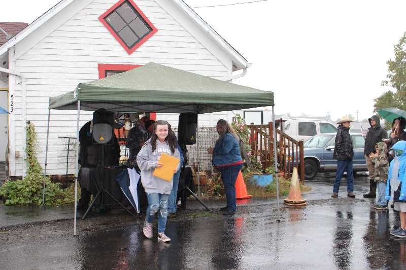 PMG PHOTO: SANDY STOREY - Participants in Molalla's Young Entrepreneurs program receive cash prizes for their efforts.