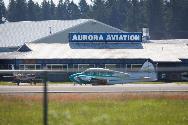 PMG FILE PHOTO - Business leaders met with the Oregon Aviation Board to discuss closer collaboration in managing the Aurora Airport.