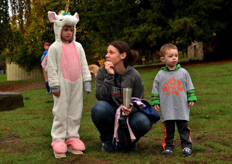 PMG FILE PHOTO - From left, Alison, Nicole and Nolan Robinson participate in a previous Fall Harvest Festival.