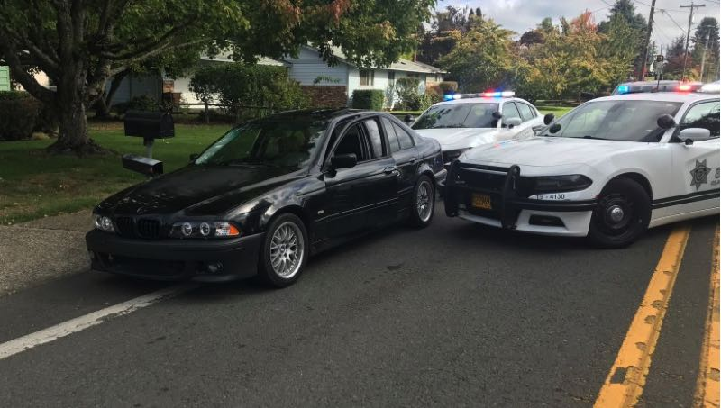 COURTESY PHOTO: PPB - Matthew Clement was identified as a suspect in the deadly shooting of Joshua Newell, which occurred in Southeast Portland's Mill Park neighborhood on October 1, 2021. He was arrested after leading authorities on a car chase down I-205 a week later.