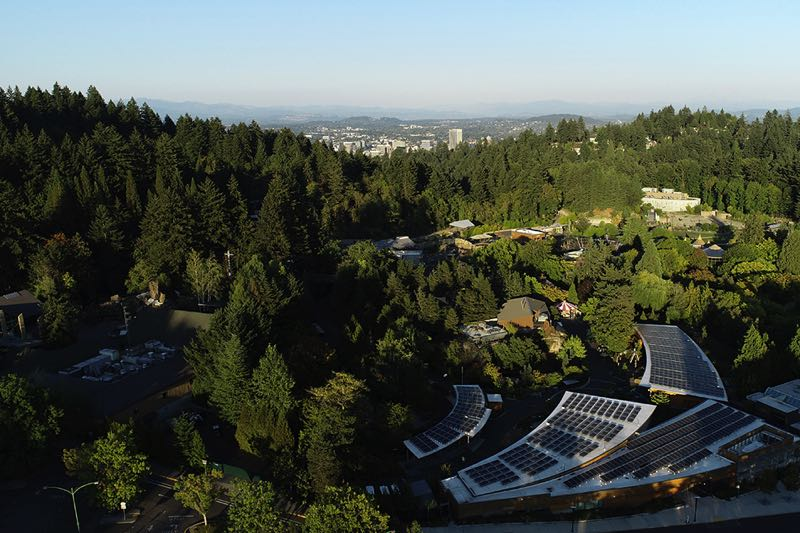 COURTESY PHOTO: AL MOWBRAY/OREGON ZOO - This aerial view shows Oregon Zoo, which has undergone transformation from bond funds since 2008.