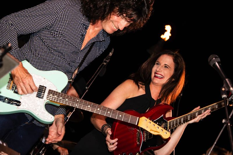 COURTESY PHOTO: TOMMY THAYER - KISS guitarist Tommy Thayer, pictured with the Thayer Family Foundation Executive Director Amy Maxwell, appeared a fundraiser for the foundation's houseless veteran effort.