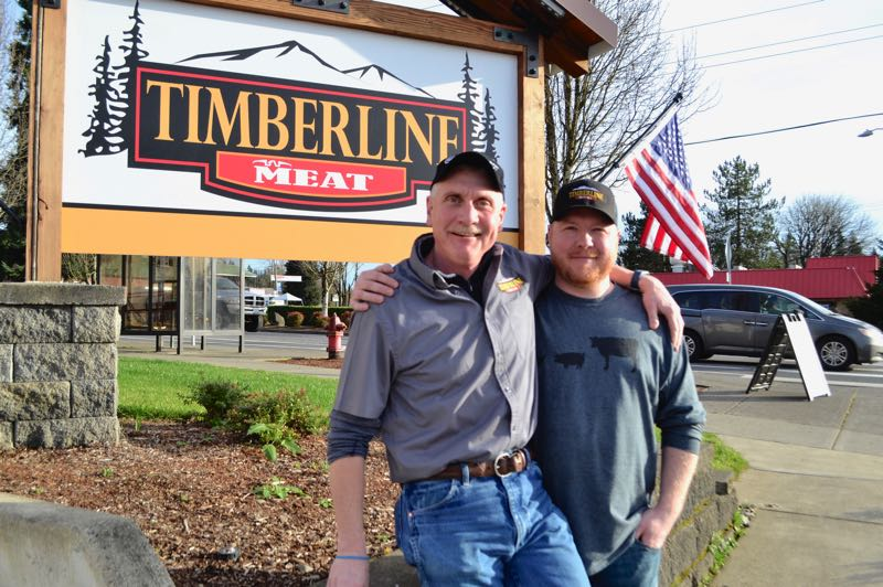 PMG FILE PHOTO - Dale Rasmussen (left) is general manager at Timberline Meat in Sandy and was diagnosed with Glioblastoma within the past year.