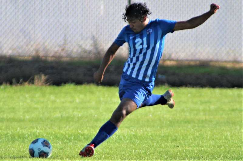 PMG PHOTO: ANDY DIECKHOFF - The Madras boys soccer team has plenty of experienced players like Jeremy Sanchez, but the results have not been following for the Buffs.