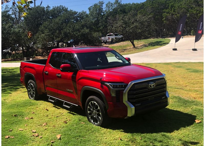 PMG PHOTO: JEFF ZURSCHMEIDE - The all-new 2022 Toyota Tundra is available with choices of two turbocharged V6 engines, two four-door cabins, rear- or all-wheel-drive, and three bed lengths.
