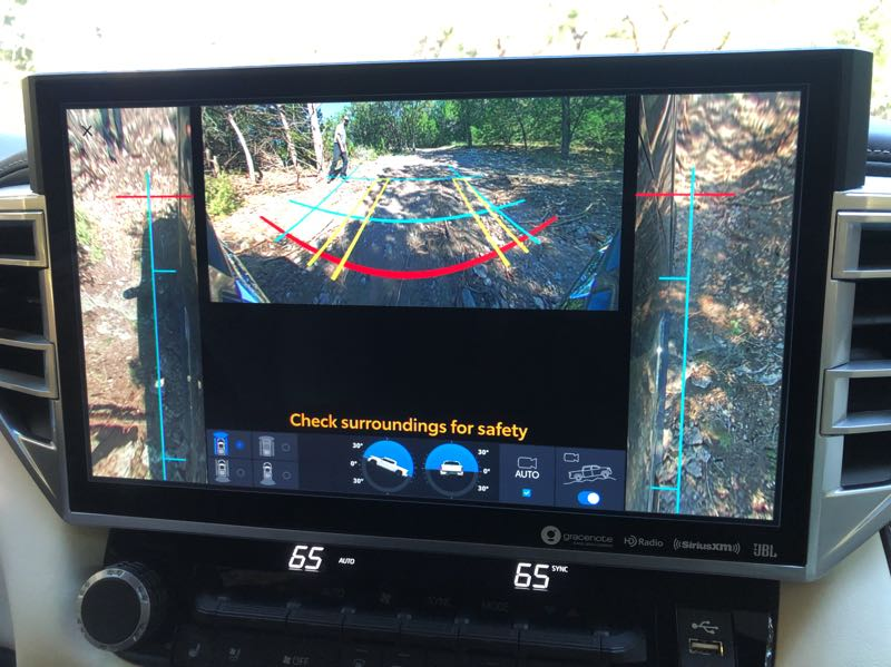 PMG PHOTO: JEFF ZURSCHMEIDE - The available 14-inch display screen in the 2022 Toyota Tundra makes camera and map reading a breeze.