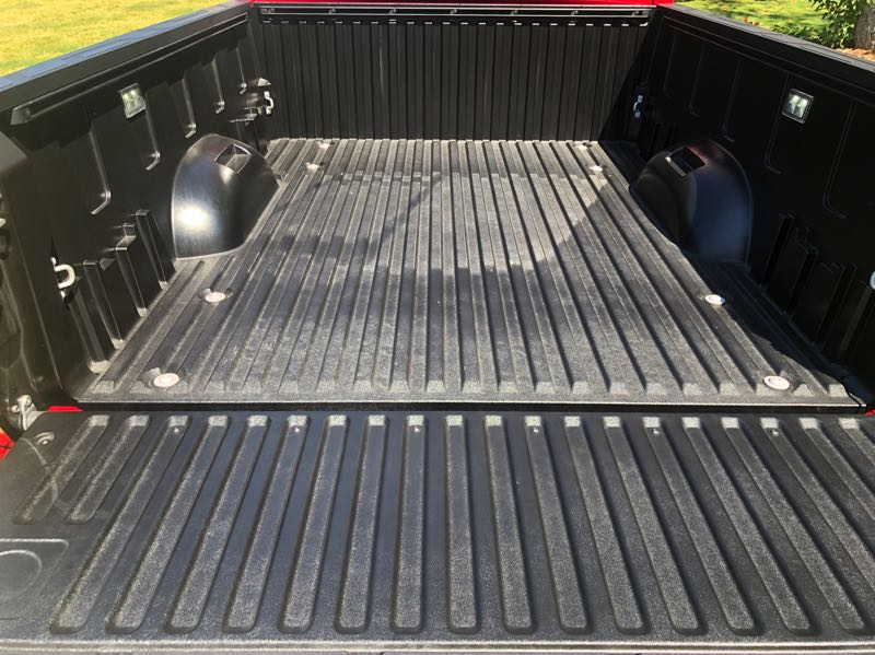 PMG PHOTO: JEFF ZURSCHMEIDE - The 2022 Toyota Tundra uses a composite bed reinforced with aluminum that resists damage much more effectively than the steel or aluminum beds used by other truck manufacturers.