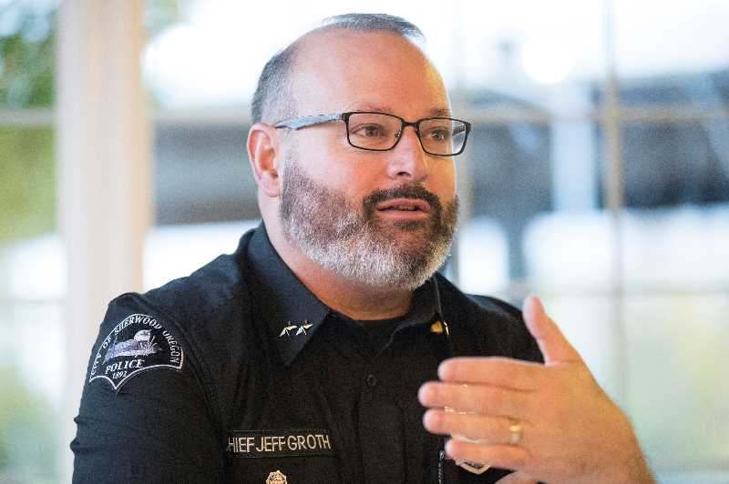 PMG FILE PHOTO - After 14 years at the helm of the Sherwood Police Department, Chief Jeff Groth will soon call it a career.