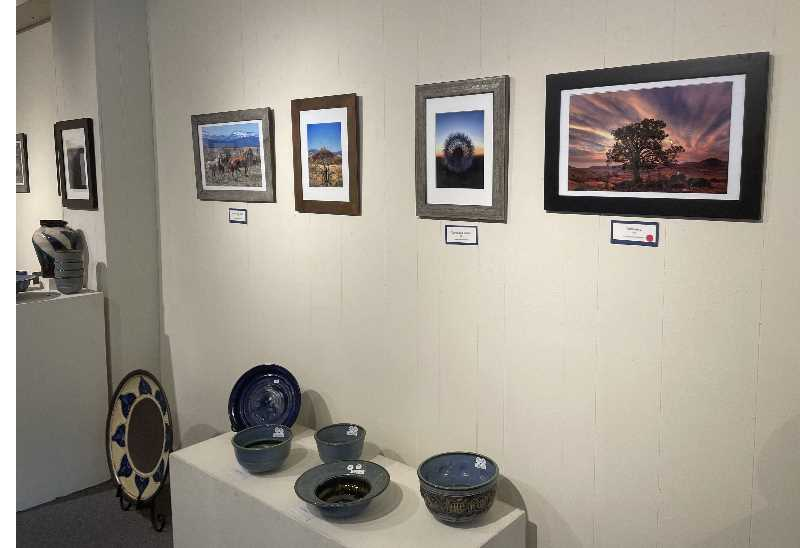 PMG PHOTO: HOLLY SCHOLZ - Edward Heath's photos decorate the walls at the gallery.