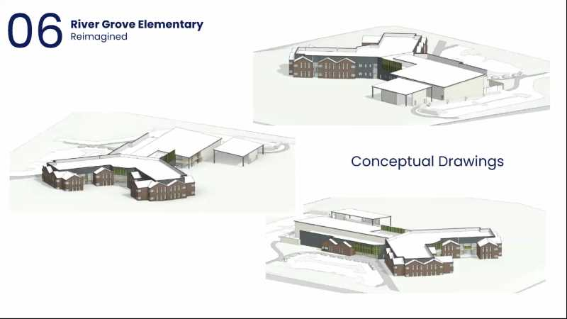 PMG PHOTO: LAKE OSWEGO SCHOOL DISTRICT  - A screengrab from the LOSD's school bond program. Anthony Vanderberg showcased the proposed design for River Grove Elementary School.