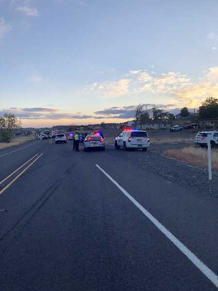 COURTESY PHOTO: JEFFERSON COUNTY SHERIFF'S OFFICE - Several police agencies responded Oct. 6 to reports of a person shooting a gun at a house and pointing a gun at cars. After a pursuit Wasco County Sheriff's Deputies arrested Zachary Marquart, 30 on Highway 97 near Meadowlark Lane.