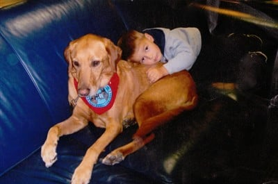 by: CONTRIBUTED PHOTO - Stryder with a seizure dog.
