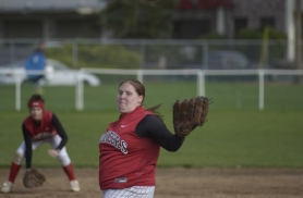 by: Michael Cade, Kayla Opperman on the mound vs. Gresham.