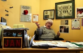 by: L.E. BASKOW, Jan Watt has been a volunteer at Cleveland for eight years — after a 34-year teaching career at the school. She's still known as a well-respected disciplinarian among students and teachers.