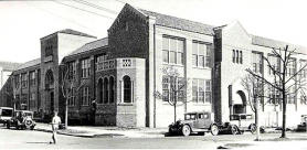 "by: Courtesy of the Oregon Historical Society, The ""old"" Irvington School, shown in the early 1930s, is an example of the neighborhood's development. A large part of the Irvington area could be nominated as a historic district this week to the National Register of Historic Places."