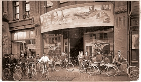 by: COURTESY OF OREGON HISTORICAL SOCIETY, Bicycling in the 1890s (above) in Portland was more for the elite, a far cry from today with the city ranking among the most bike-friendly in the country.