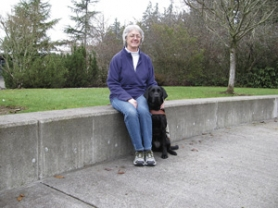 by: Contributed photo Pamela Pospisil with her new guide dog, Bianca.