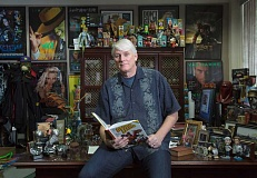 by: TIMES PHOTO: JONATHAN HOUSE - Mike Richardson, owner and founder of Dark Horse Comics, always has a project. He recently completed a new graphic novel, Atomic League with artist Bruce Zick.