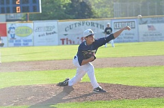 by: JEFF GOODMAN - Nico Tellache releasing a pitch against Aloha last season.