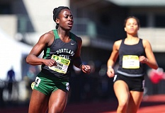 by: CONTRIBUTED PHOTO: LARRY LAWSON - Estacada High graduate Genna Settle was part of a school-record breaking 400-meter relay team during her rookie season at Portland State.