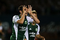 by: COURTESY OF DAVID BLAIR - Diego Valeri celebrates his goal for the Portland Timbers in Friday night's 2-1 home victory over the Colorado Rockies.