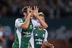 by: COURTESY OF DAVID BLAIR - Diego Valeri of the Portland Timbers celebrates his goal in a 2-1 victory over the Colorado Rapids last week at Providence Park.