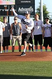 Photo Credit: HILLSBORO TRIBUNE PHOTO: AMANDA MILES - Ahlstrom throws the first pitch at last Thursdays Hillsboro Hops game. He kicked off his Make-A-Wish experience with a trip to the Hops game before heading to New York to watch the Yankees.