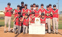 by: SUBMITTED - The Clackamas Cavaliers proved themselves the top 13- and 14-year Junior Baseball team in Clackamas County in 2014. Members of the standout team included: (front row, left to right) Isaiah Scardino, Zandon Elliott, Ryan Ahlstrom and Ryan McDonald; (second row) Jaden Shaw, Jacob Allen, Jake Zehr, Cole Hager, Kyle Kirsch, Mitchell Modjeski, Evan Johnston and Mark Cadieux; and (back) coach Jason Carroll, coach Keith Miller and head coach John Kirsch.