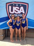 Photo Credit: CONTRIBUTED PHOTO - Madras Aquatic Center water polo players, from left to right, Mikayla Weinke, Melissa Field and Sophie Gemelas were just a few from Madras took part in the USA Water Polo National Junior Olympics in Calif., last week.