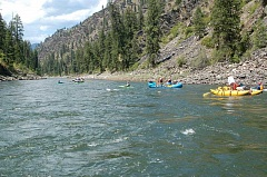 Photo Credit: SCOTT STAATS PHOTO - Rafters and kayakers can enjoy the simple beauty of a trip down the Salmon River in Idaho.