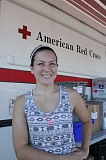 Photo Credit: LINDSAY KEEFER - Miranda Audritsh wears her gallon pin from the American Red Cross with pride.