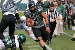 Photo Credit: COURTESY OF PORTLAND STATE UNIVERSITY - Returning starter Kieran McDonagh is battling former Grant High star Paris Penn at quarterback with the Portland State Vikings, who could use a mix of the two in different situations this season.