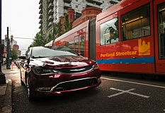 Photo Credit: TRIBUNE PHOTO JOHN M. VINCENT - The redesigned 2015 Chrysler 200 was brought to Portland earlier this year by factory representatives who said the midsize was their most important new car.