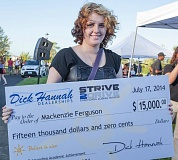 Photo Credit: COURTESY DICK HANNAH AUTO DEALERSHIPS - MacKenzie Ferguson won $15,000 from Dick Hannah because of her academic achievements.