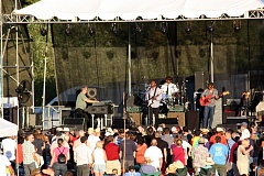 Photo Credit: HILLSBORO TRIBUNE PHOTO: DOUG BURKHARDT - Robert Cray rocked Washington County at the Tualatin Hills Park & Recreation District complex Saturday evening. Cray blasted through a 90-minute set of rhythm and blues music that included Right Next Door, Dont You Even Care? and Your Good Thing is About to End. Several hundred people turned out to enjoy the music outdoors on a warm summer evening.