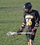 Photo Credit: PHOTO CONTRIBUTED BY WANDA HENRY - Aaron Henry, a midfielder for the Redmond Panthers stands ready to play during their league season this spring. Henry lives in Crook County, but played for Redmond because Crook County doesn't have a lacrosse team.