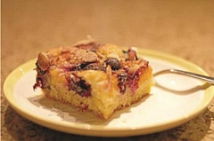 Photo Credit: DAN PRED - Fruit Kuchen can be made with any variety of fruit ingredients and topped with cinnamon sugar, nuts or coconut.