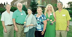 Photo Credit: SUBMITTED - Recognized - Four members of the Integra team, as well as Heather and Dennis Lewis (right) were honored recently as recipients of Hearts of Golds awards.