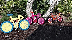 Photo Credit: SUBMITTED PHOTO - Lawn art bikes are being sold as a fundrasier for the Safe Routes to School program, and the arts association's student scholarships.