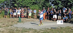 Photo Credit: COURTESY OF PDGA - Paul McBeth, the eventual champion, launches a shot during the Professional Disc Golf Association World Championships last week at Blue Lake Park.