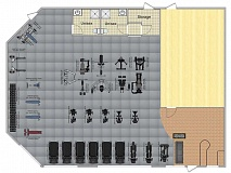 Photo Credit: CONTRIBUTED PHOTO - This is the layout plan for Timber Town Fitness.