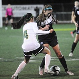Photo Credit: MATTHEW SHERMAN - Shannon Walton is a returning starter for the Pacer girls soccer team this year. Lakeridge is carrying a large group of 20 players on varsity this year and expects to jell by the time league starts.